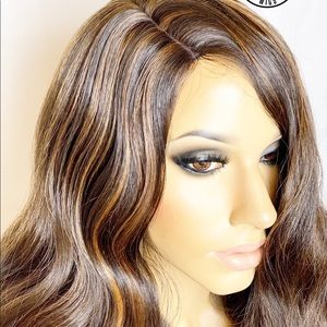 LoveSunnyWigs Accessories - Brown Light Auburn Human Hair Blend Bodywave Wig